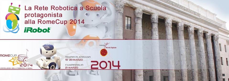 La Rete Robotica a Scuola protagonista alla RomeCup 2014
